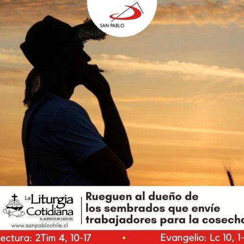 LITURGIA COTIDIANA 18 DE OCTUBRE: SAN LUCAS, ev. (F). Rojo.
